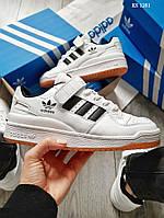 Мужские кроссовки Adidas Forum Mid (черно/белые)