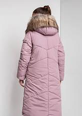 Детский зимний пуховик для девочки на флисе, удлиненный  №12    140-158р., фото 2