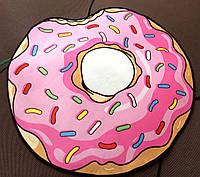 Коврик с 3D принтом Пончика 80 см. Ковер детский для пола