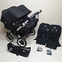 Детская коляска для двойни Bugaboo Donkey Twin Black Бугабу
