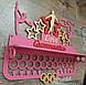 Медальница гимнастика с полкой с покраской, фото 3