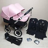 Детская коляска для двойни Bugaboo Donkey Twin Soft Pink Бугабу