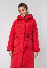 Детский зимний пуховик для девочки на флисе, удлиненный  №12 без меха |  140-158р., фото 2