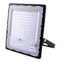 Прожектор 120w, ip67, солнечная батарея, пульт ду, встроенный аккумулятор, таймер, датчик света