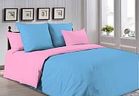 Комплект постельного белья Поплин розовый + голубой