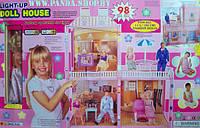 Кукольный домик для Барби Doll House 98 деталей + свет и звук, фото 1