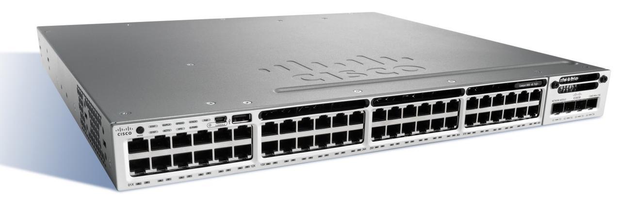 Коммутатор Cisco Catalyst 3850 48 Port Full PoE IP Services (WS-C3850-48F-E)