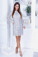 Красивое платье блеск-серебро