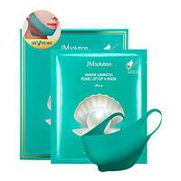 Универсальная лифтинг-маска для лица JM Solution Marine Luminous Pearl Lift-up V Mask Pearl 1 шт
