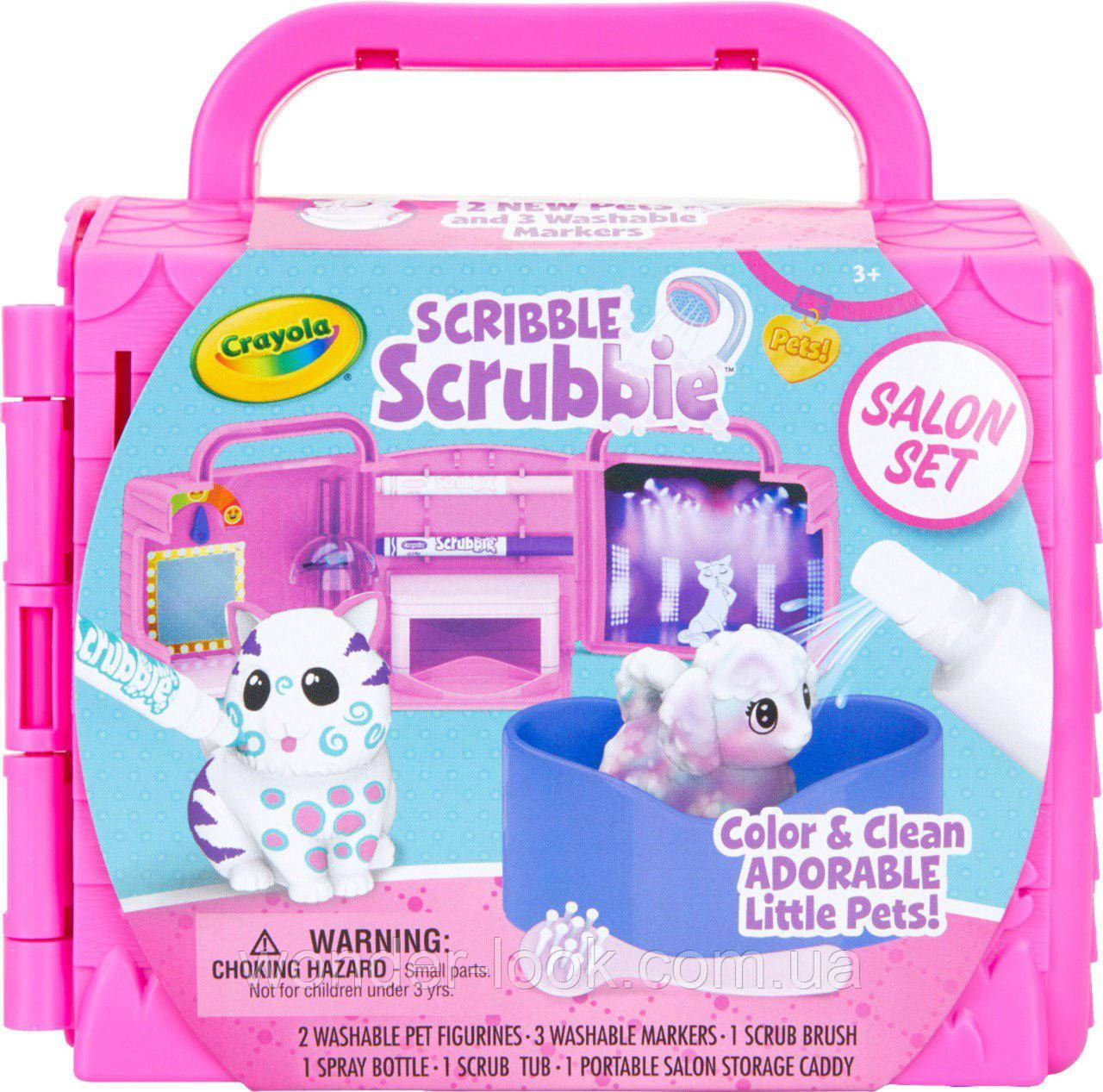 Crayola раскрашиваемые питомцы  Scribble Scrubbie Toy Pet Playset