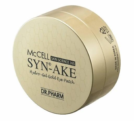 Патчи под глаза со змеиным Dr.Phamor McCELL SKIN SCIENCE 365 Syn-Ake Hydro-Gel Gold Eye Patch 60ea