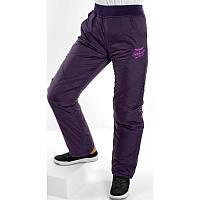 Зимние штаны (брюки) для девочки на синтепоне. размер 128, сиреневые.