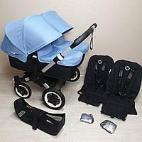 Детская коляска для двойни Bugaboo Donkey Ice Blue Бугабу