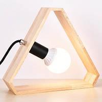 Светильник настольный деревянный Triangle