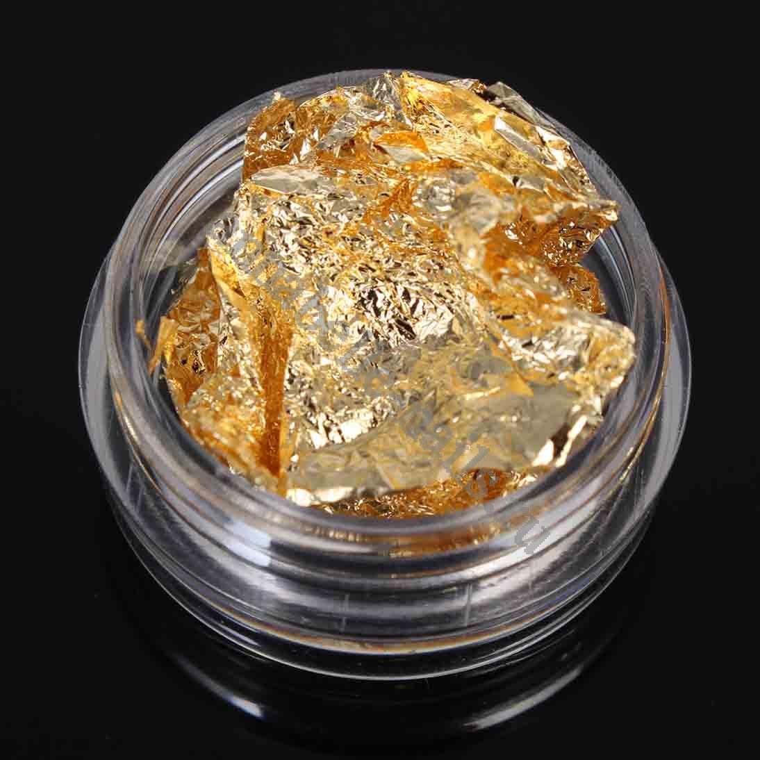 Фольга для ногтей жатая золото 1шт