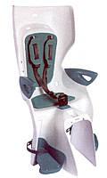 Сиденье заднее BELLELLI Summer Clamp белый/бирюзовая подкладка