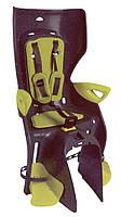 Сиденье заднее BELLELLI Summer Clamp темно-серый/салатовая подкладка (HI Vision)