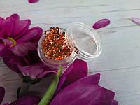 Фольга для ногтей жатая 1шт бронза