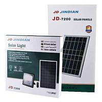 Уличный прожектор на 200W, IP67, солнечная батарея, пульт ДУ, встроенный аккумулятор, таймер, датчик света, фото 1
