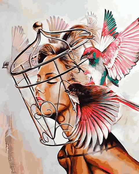 Картина за номерами 40×50 див. Babylon Жага свободи Художник Жюльєн Грюдзенски (VP 1109)
