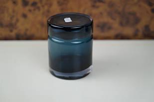 Ємність синя маленька скляна для зберігання сипучих продуктів