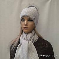 Комплект с ЛЮРЕКСОМ Жанна ODYSSEY  43843 светлосерый