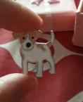 Брошь брошка значок джек рассел терьер пес собака металл эмаль значок кнопка, фото 3