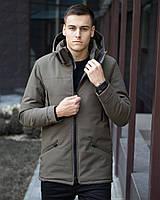⭐ Мужская зимняя куртка парка цвет хаки Pobedov CS 1.6