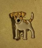 Брошь брошка значок джек рассел терьер пес собака металл эмаль значок кнопка, фото 5