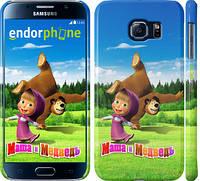 "Чехол на Samsung Galaxy S6 G920 Маша и Медведь на лугу ""663c-80"""