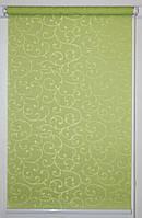 Готовые рулонные шторы 350*1500 Ткань Акант 2257 Зелёный