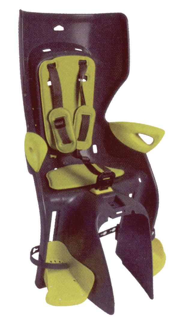Сиденье заднее BELLELLI Summer Relax темно-серый/салатовая подкладка (HI Vision)