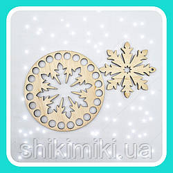 Новогодние  наборы из фанеры Снежинки 4