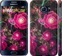 """Чехол на Samsung Galaxy S6 G920 Абстрактные цветы 3 """"850c-80"""""""