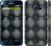 "Чехол на Samsung Galaxy S6 G920 Кожаная обивка ""1104c-80"""