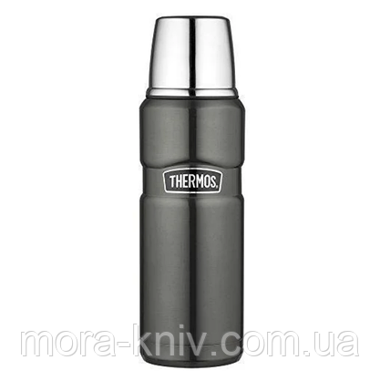 Термос 0.47л Thermos Stainless King Flask Gun Metal 170014, фото 2