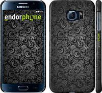 """Чехол на Samsung Galaxy S6 G920 Чёрно-серые листья """"843c-80"""""""