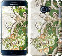 "Чехол на Samsung Galaxy S6 G920 Узор v9 ""1843c-80"""