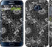 "Чехол на Samsung Galaxy S6 G920 Чёрно-белая хохлома ""1092c-80"""