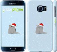 """Чехол на Samsung Galaxy S6 G920 Рождественский кот """"502c-80"""""""