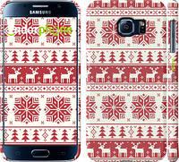 """Чехол на Samsung Galaxy S6 G920 новый год и красные олени """"1487c-80"""""""