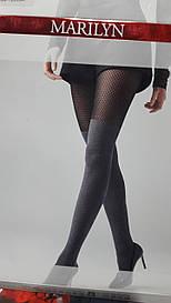 Фантазийные колготки Marilyn Zazu N04 с имитацией ботфортов