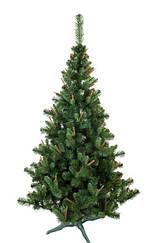 Ель искуственная с коричневым кончиком новогодняя 1,5 м высокого качества (Елка) (Ялинка)
