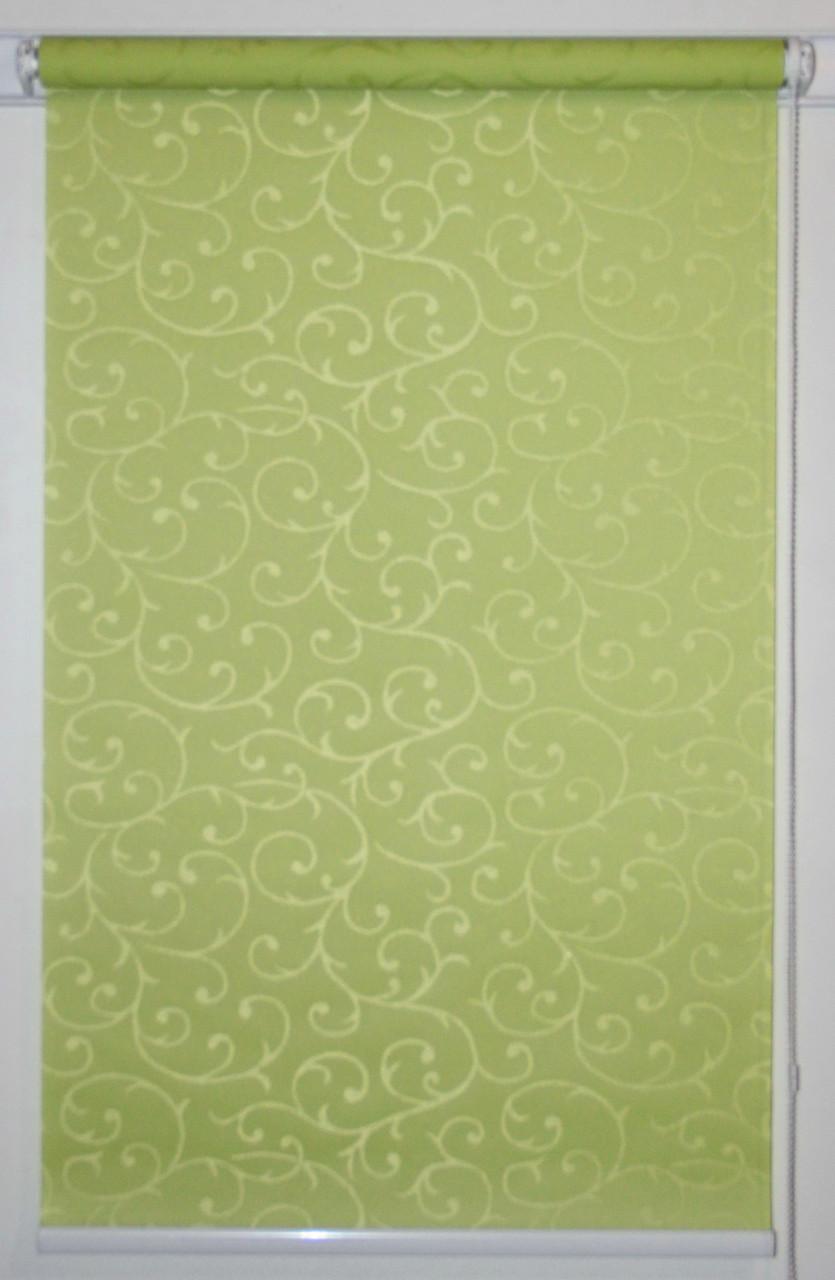 Рулонна штора 1400*1500 Акант 2257 Зелений