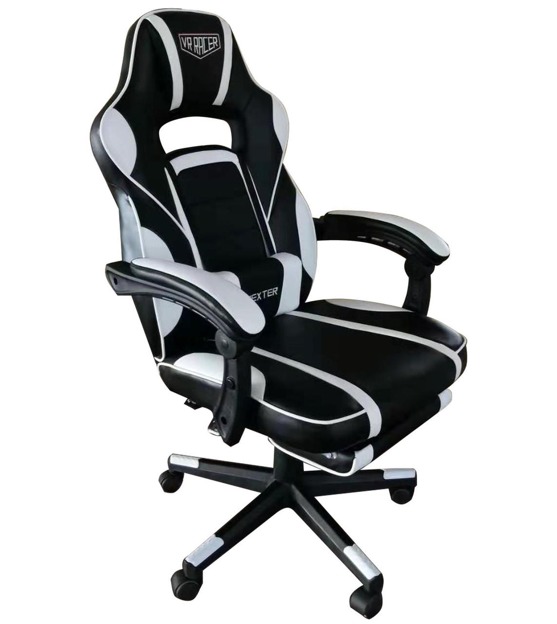 Геймерское кресло VR Racer Dexter Vector черный/белый, TM AMF