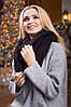 Зимовий чорний в'язаний хомут/снуд/шарф Licato, фото 2