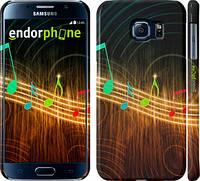 """Чехол на Samsung Galaxy S6 G920 Разноцветные ноты """"190c-80"""""""
