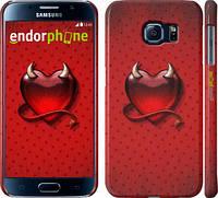 "Чехол на Samsung Galaxy S6 G920 Сердечко-чертёнок ""560c-80"""