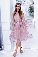 Нежно расшитое богатое платье Блеск