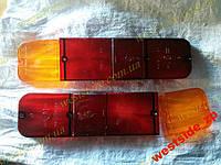 Рассеиватели задних фонарей (стекла) Москвич 2140 (красное+желтое) ккт 2 шт